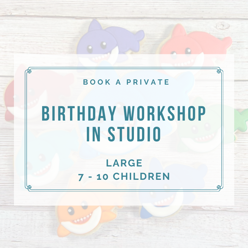 LARGE BIRTHDAY IN STUDIO (7-10 Children) DEPOSIT