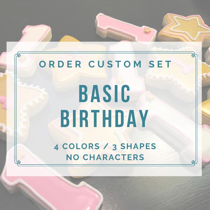 BIRTHDAY BASIC CUSTOM (1 DOZEN)