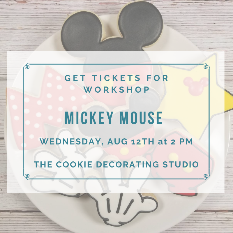 'Mickey Mouse Decorating Workshop - WEDNESDAY, AUG 12th at 2 p.m. (THE COOKIE DECORATING STUDIO)