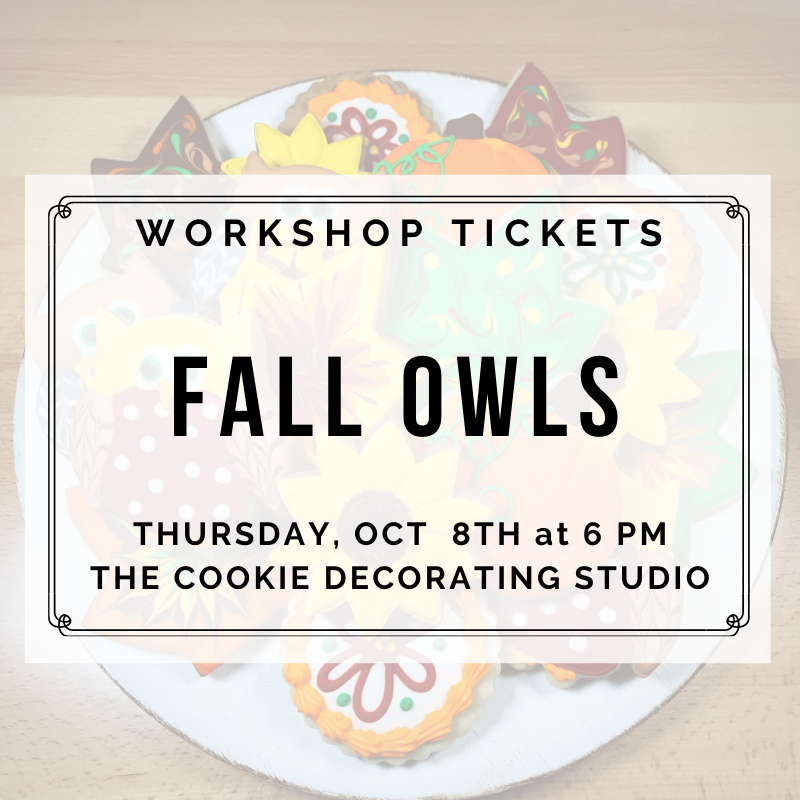 Fall Owls Decorating Workshop - THURSDAY, OCTOBER 8th at 6:30 p.m. (THE COOKIE DECORATING STUDIO)