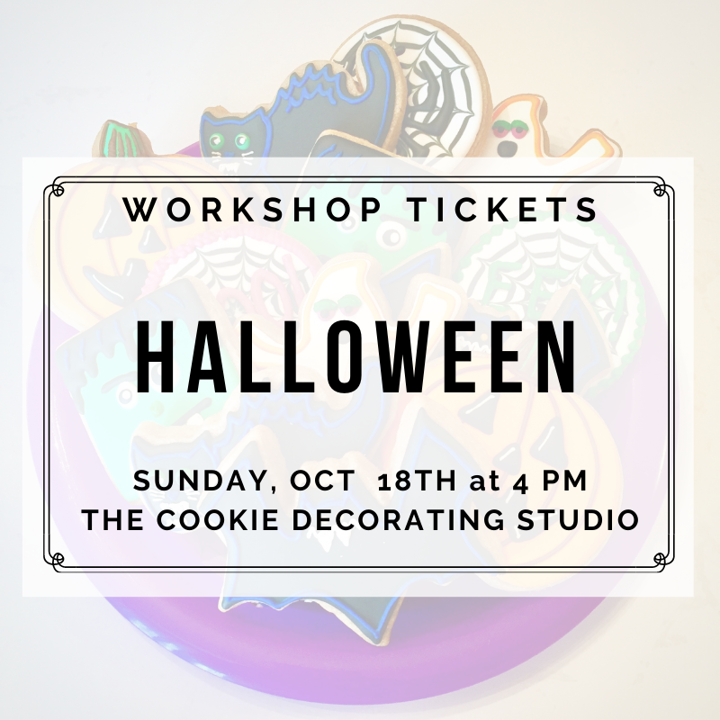 'Halloween Decorating Workshop - SUNDAY, OCTOBER 18th at 4 p.m. (THE COOKIE DECORATING STUDIO)