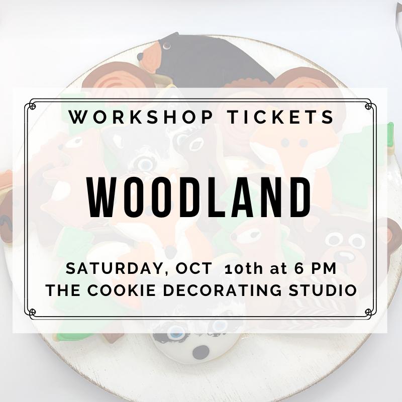 Woodland Decorating Workshop - SATURDAY, OCTOBER 10th at 6:00 p.m. (THE COOKIE DECORATING STUDIO)