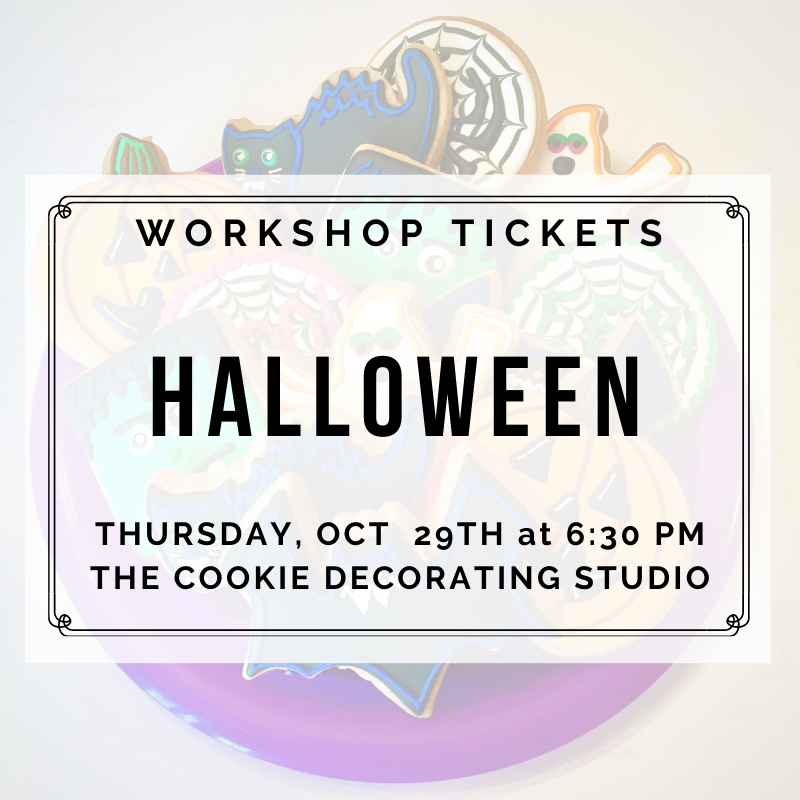 'Halloween Decorating Workshop - THURSDAY, OCTOBER 29th at 6:30 p.m. (THE COOKIE DECORATING STUDIO)