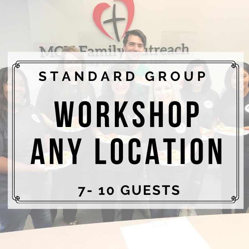 STANDARD WORKSHOP ANY LOCATION (7-10 Guests) DEPOSIT