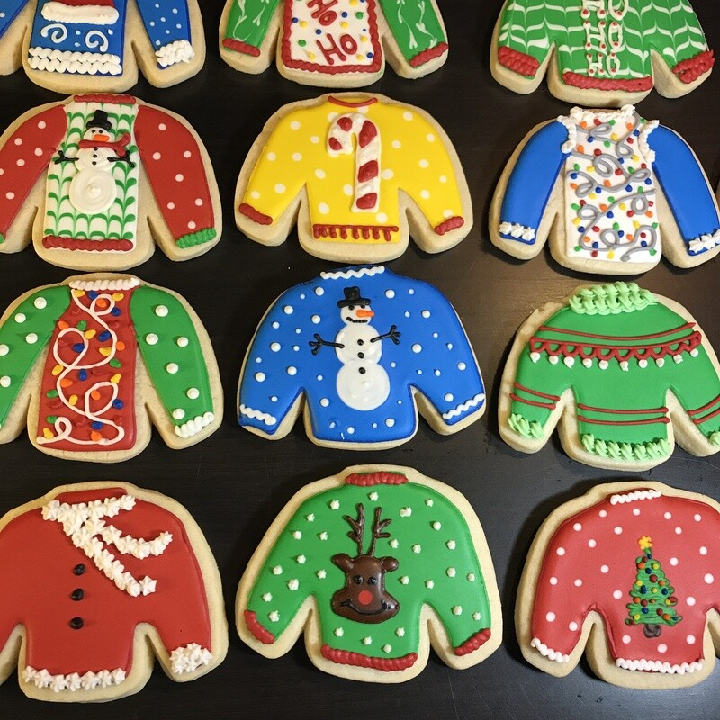 'Ugly Sweaters Decorating Workshop - FRIDAY, DECEMBER 11th at 6:30 p.m. (THE COOKIE DECORATING STUDIO)