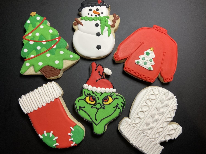 GRINCH CHRISTMAS SET (1 DOZEN)