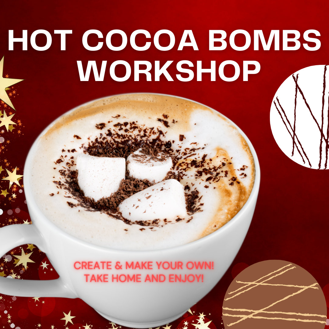 'Hot Cocoa Bombs Workshop - SUNDAY, NOVEMBER 29th at 4 p.m. (THE COOKIE DECORATING STUDIO)