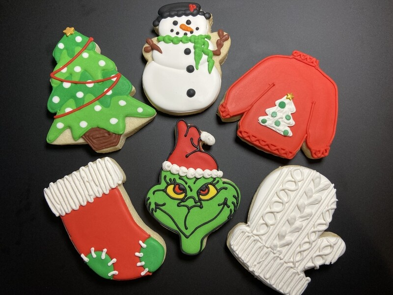 'Grinchy Christmas Decorating Workshop - TUESDAY, DECEMBER 15th at 6:30 p.m. (THE COOKIE DECORATING STUDIO)