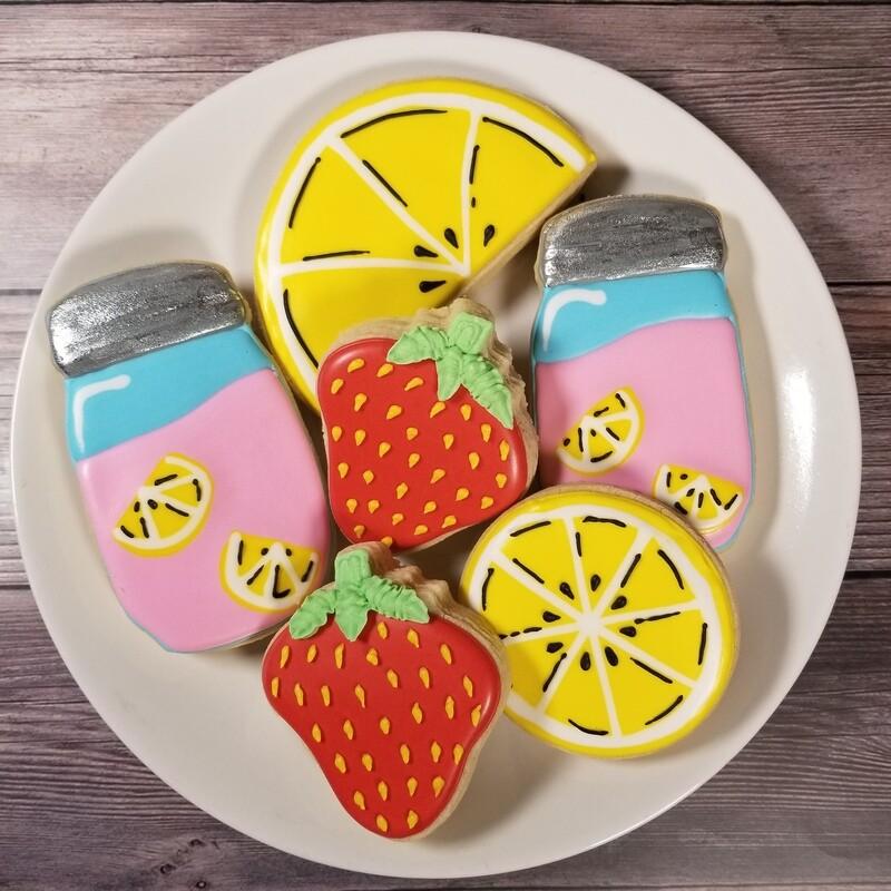 'Strawberry Lemonade Decorating Workshop - MONDAY, JUNE 21st at 2 p.m. (THE COOKIE DECORATING STUDIO)