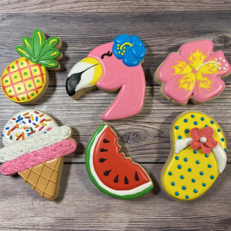 'Flamingo Summer Decorating Workshop - SUNDAY, JUNE 27th at 4 p.m. (THE COOKIE DECORATING STUDIO)