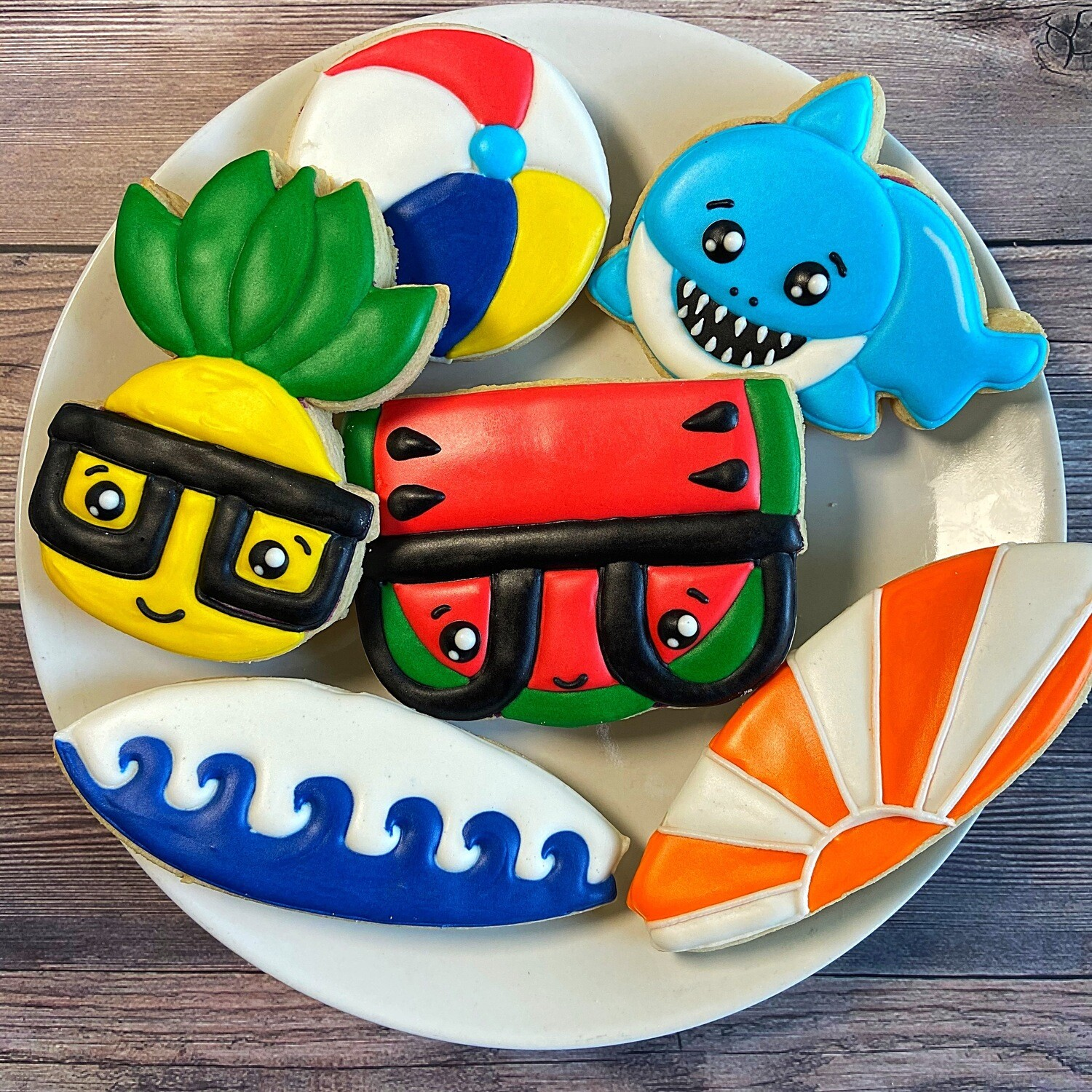 'BEACH BOY Decorating Workshop - SUNDAY, JULY 25th at 4 p.m. (THE COOKIE DECORATING STUDIO)