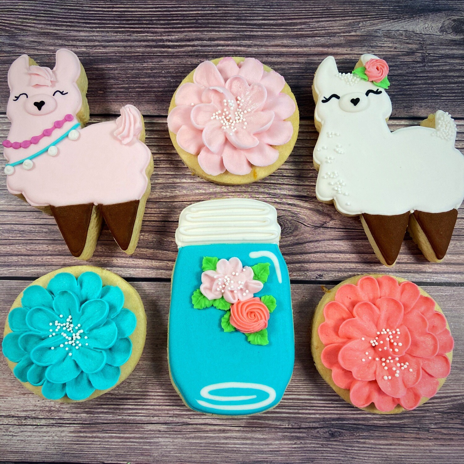 'FLORAL LLAMA Decorating Workshop - SUNDAY, AUGUST 1st at 4 p.m. (THE COOKIE DECORATING STUDIO)