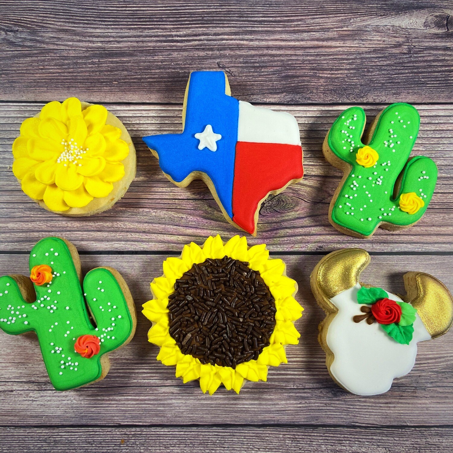 'TEXAS Decorating Workshop - MONDAY, AUGUST 2nd at 6 p.m. (THE COOKIE DECORATING STUDIO)