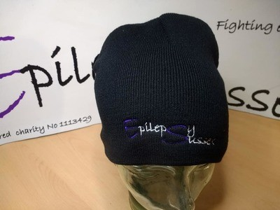Embroidered Beanie's  with purple/white/black writing, For code click SHOW MORE than add code in PayPal checkout box