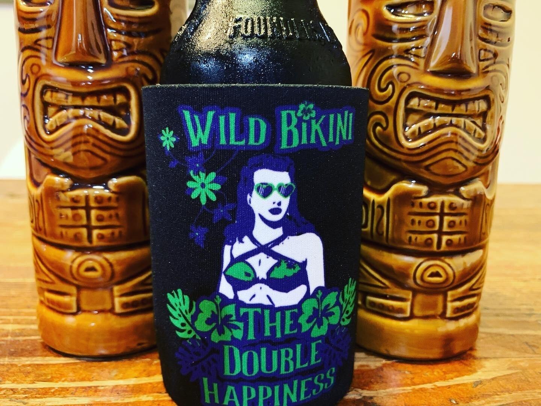 Wild Bikini/Spooky Tiki Stubby Coolers