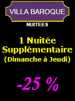 1 Nuitée supplémentaire (-25%) - 2 personnes (Dimanche à Jeudi)