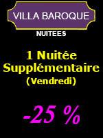 1 Nuitée supplémentaire (-25%) - 2 personnes (Vendredi)
