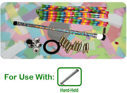 Handheld Confetti Launcher Kit - 10 Reloads Included