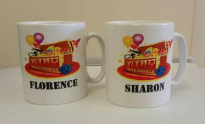 White Personalised Printed Mug