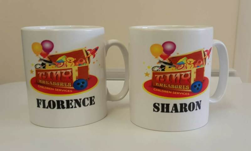 White Personalised Printed Mug