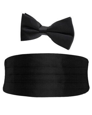 cumberband met strik zwart