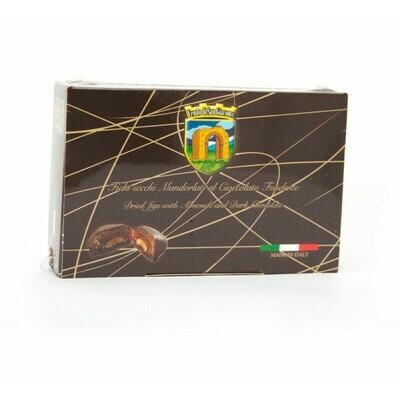 Fichi mandorlati ricoperti di cioccolato Fondente   160gr