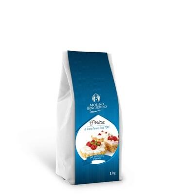 FARINA DI GRANO TENERO TIPO 00 per pasticceria in genere    1 kg