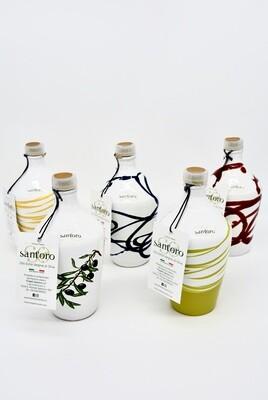 Bottiglia in Ceramica Artigianale di Olio Extra Vergine di Oliva da 0,3 lt