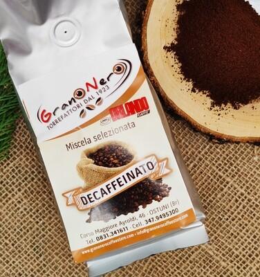 Caffè Decaffeinato Macinato, miscela Selezionata 250 gr