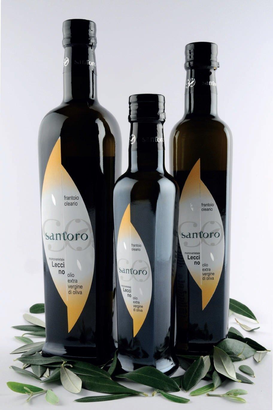 bottiglia 0,5 lt  -  Monocultivar LECCINO - Olio EVO BIOLOGICO (campagna di raccolta 2019/20)