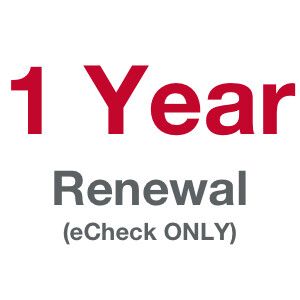 1 Term (Year) Membership - Prior Member [eCheck ONLY!]