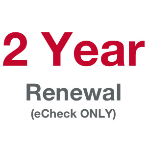2 Term (Year) Membership - Prior Member [eCheck ONLY!]