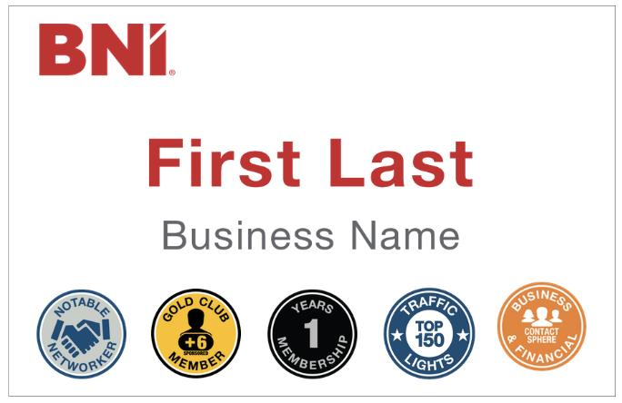 BNI Tampa Icon Name Badge