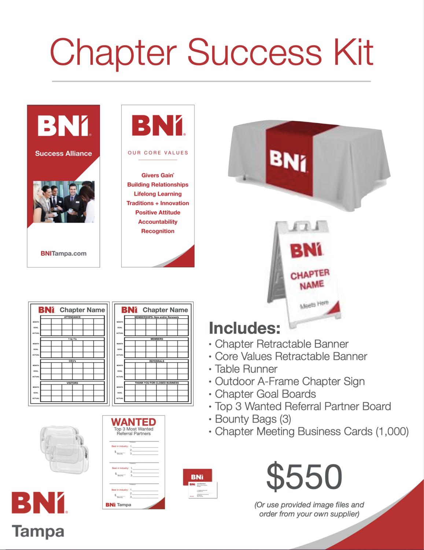 BNI Tampa Chapter Success Kit