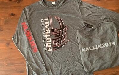 Huskies #ALLIN2019 Long Sleeve Dry Fit Tee Shirt