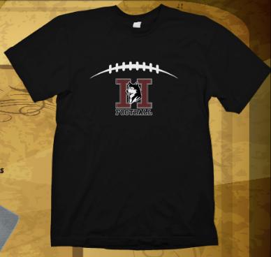 Huskies Football Laces Black Soft Tee