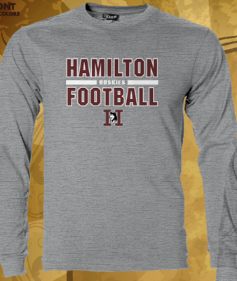 Hamilton Football Bar None Sport Tek Long Sleeve