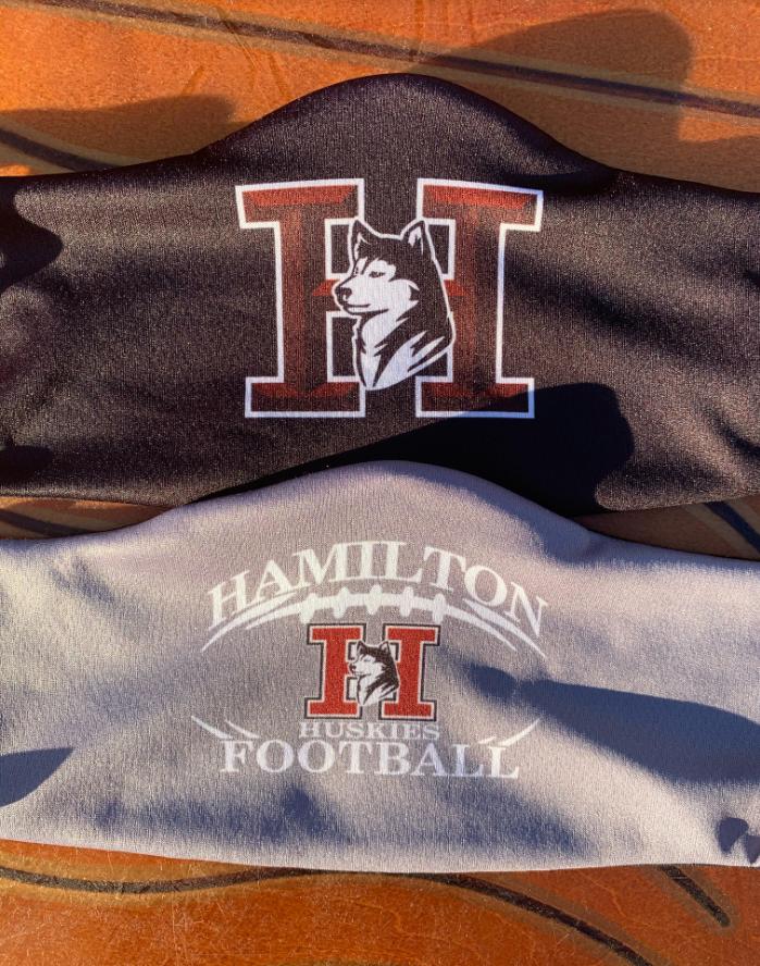 Hamilton Grey and Black Masks $10