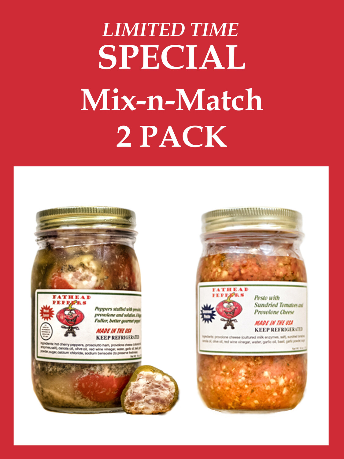 LIMITED TIME SPECIAL - Fathead Mix-n-Match 2 Pack (16 oz. Jars)