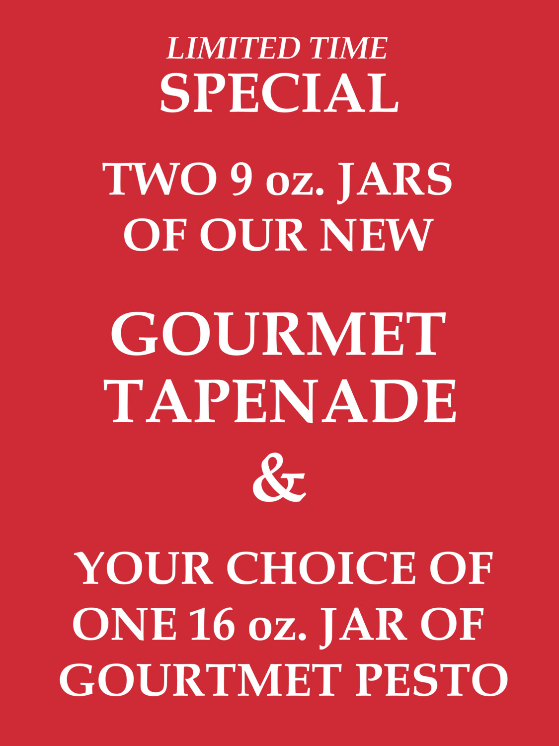 ONLINE SPECIAL: Tapenade Combo Pack