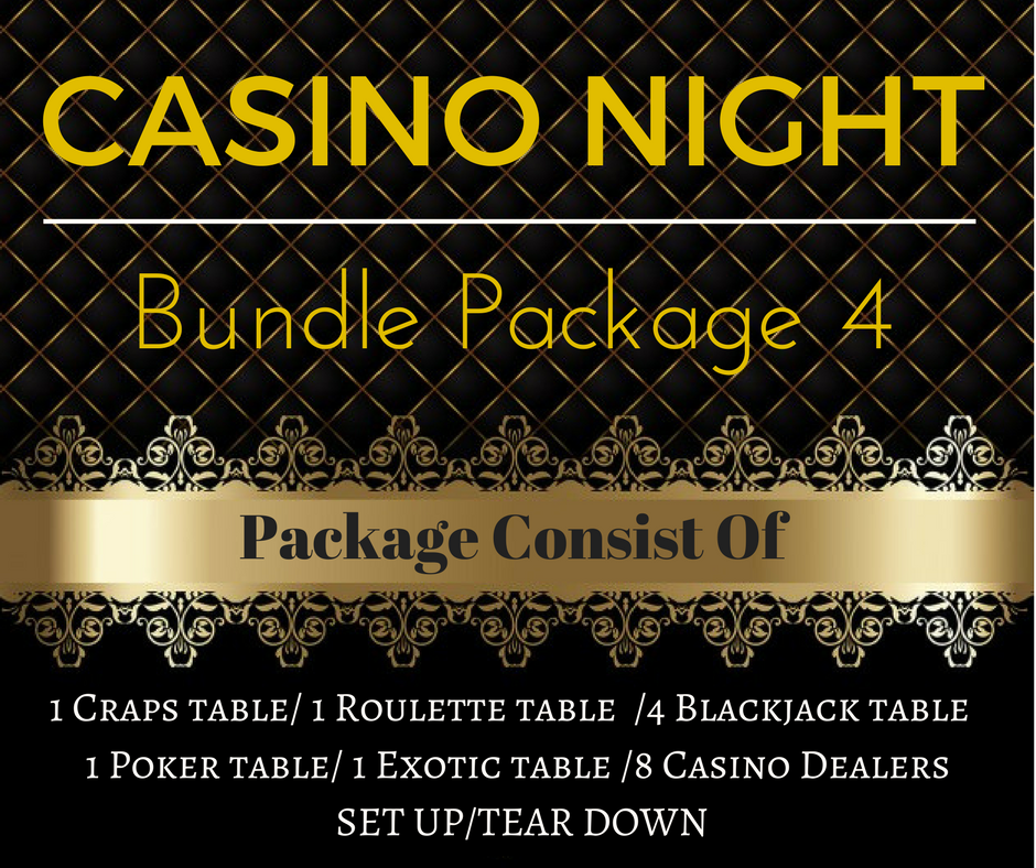 ​Casino Rental Package 4 Only $2,125.00 (Pay Deposit of $499.00) Dealers gratuities / Delivery / - Not included in price