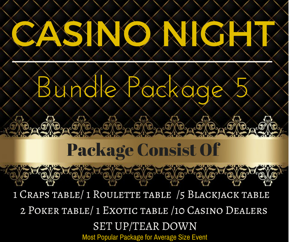 Casino Rental Package 5 Only $2,575.00(Pay Deposit Half of Final Price)