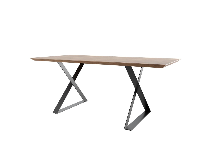 Metal Desk Legs. XZ-shape table legs. Industrial legs. Modern steel table legs.