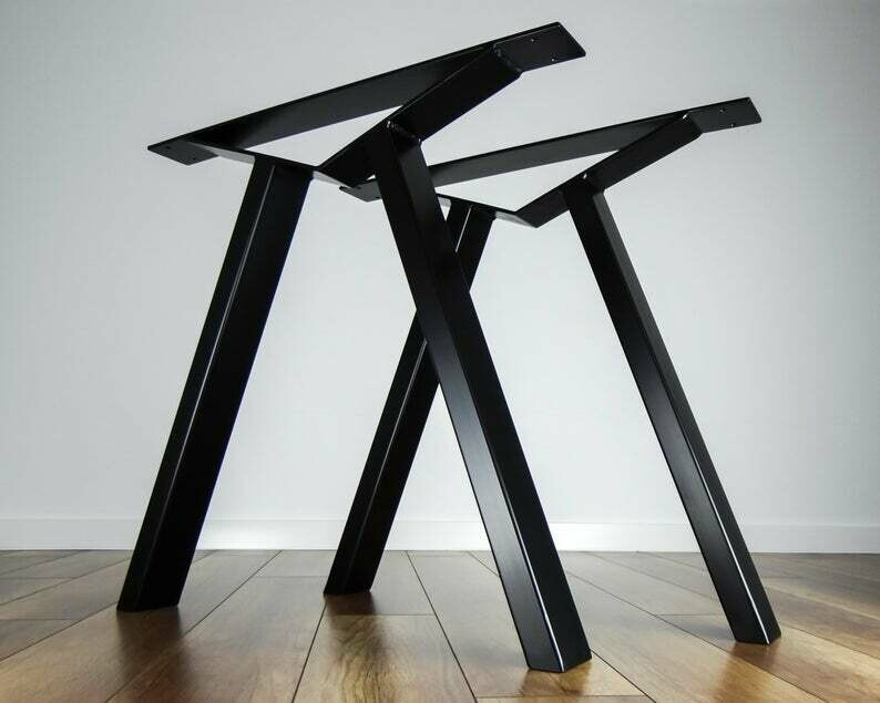 "Metal Desk Legs- Table Home Office Workspace Kids 28"" Tall Set School Setup Home Decor. [D005]"