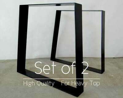 """Trapezoid Metal Dining Table Legs 