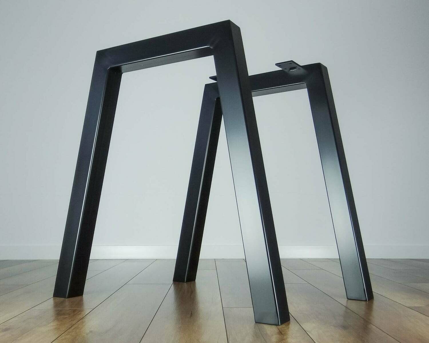 Metal Dining Table Legs (set of 2 legs). Steel Iron Legs for Kitchen Table. Strong, Industrial Furniture Legs. [D010]