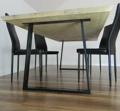 Metal Dining Table Legs (set of 2). Steel Kitchen Table Legs. Table Base. 80x20mm Trapezoid.