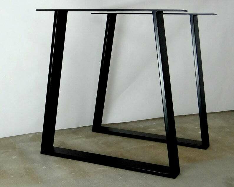 "Metal Desk Legs for Home Office I Steel desk legs I Modern desk legs 28"" tall for home office"