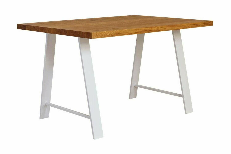 Metal Dining Table Legs set(2). Steel Table Legs. White Modern Desk Legs. A-shaped Industrial Legs. Iron Table Legs