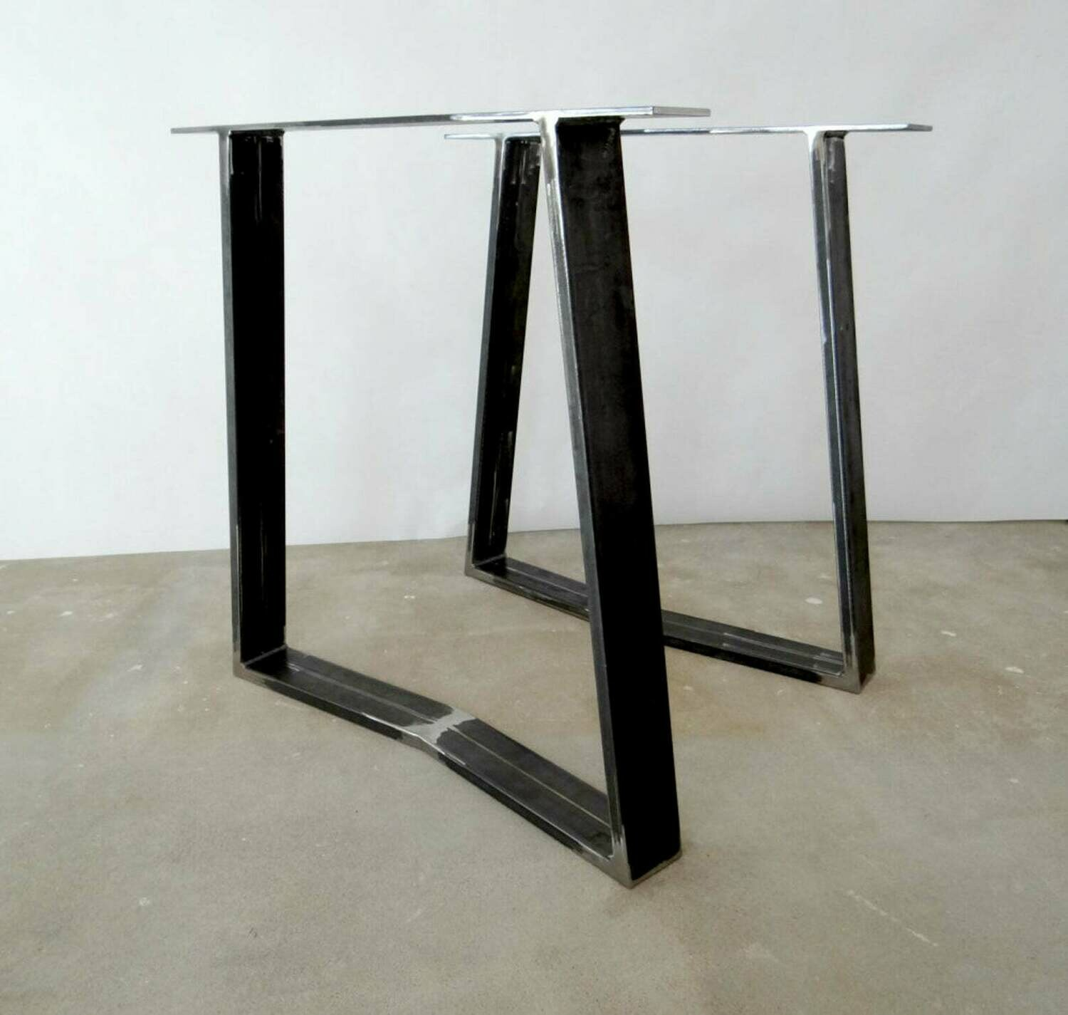 Metal Dining Table Legs Victor (set of 2). Strong Steel Table Legs. Industrial Legs for Table. Iron Table Legs. [D014]